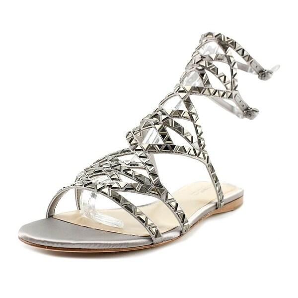 Imagine Vince Camuto Rettle Women Open Toe Canvas Gray Gladiator Sandal