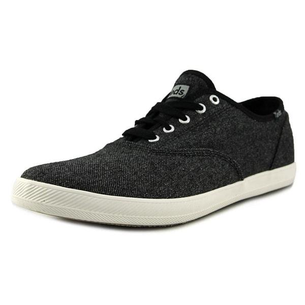 Keds Triple Decker Men  Round Toe Canvas Black Sneakers