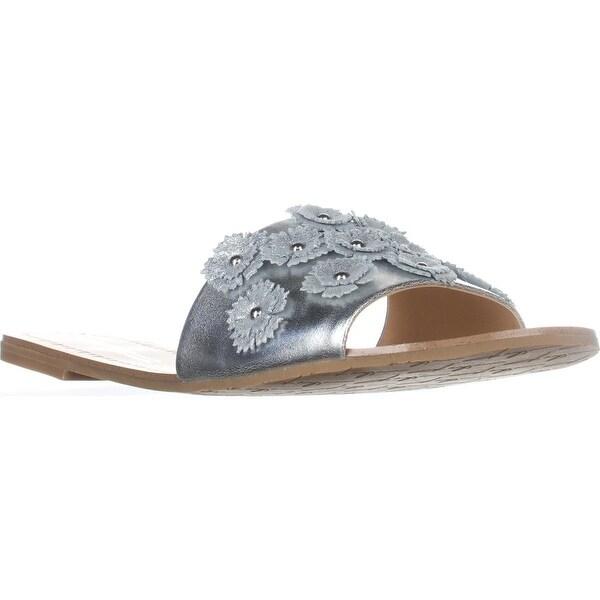 Daya by Zendaya Flat Slide Sandals, Silver - 10 us