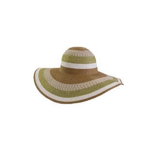 Collection Xiix Tan Green Metallic Floppy Hat OS