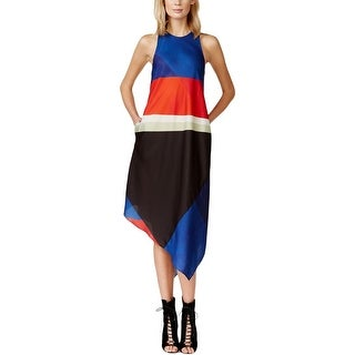 Rachel Roy Womens Casual Dress Lined Colorblock