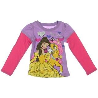 Disney Princess Belle Glitter T-Shirt - 3T