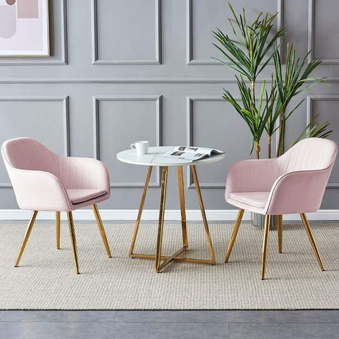 """Global Pronex Modern Upholstered Dining Chairs Set of 2 for Kitchen & Living Room - 22.8"""" L x 23.6"""" W x 32.3"""" H"""