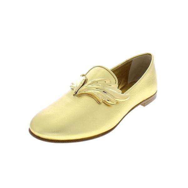 57c5be3e4eb7 Shop Giuseppe Zanotti Womens Loafers Metallic Leather - 37 Medium (B ...