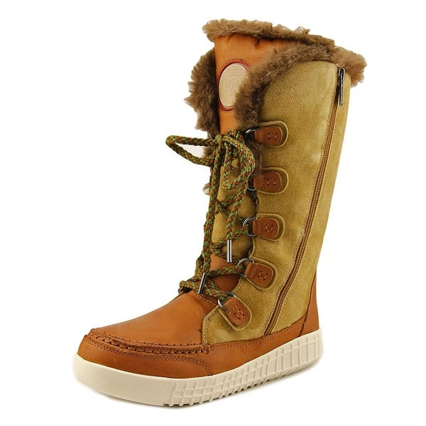 Pajar Paityn Women Round Toe Leather Brown Winter Boot