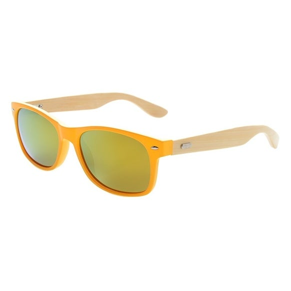 afa7cda413 Shop Eyekepper Men s Bamboo Wood Arms Classic Polarized Sunglasses Yellow  Frame Red Mirror Lens - Free Shipping On Orders Over  45 - Overstock -  16022572