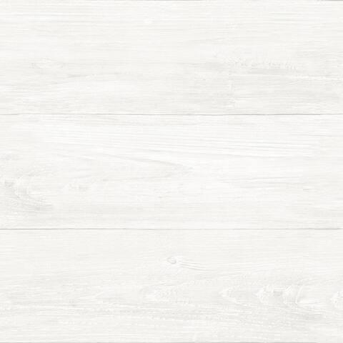 Brewster NU2494 Reclaimed Shiplap Farmhouse Vinyl Peel and Stick - White