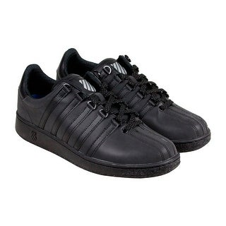 K-Swiss Classic VN P Reflective Mens Black Leather Lace Up Sneakers Shoes