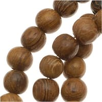 Round Wood Beads Brown 4-5mm /16 Inch Strand