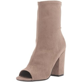 Guess Womens Galyna 2 Booties Faux Suede Open Toe - 10 medium (b,m)
