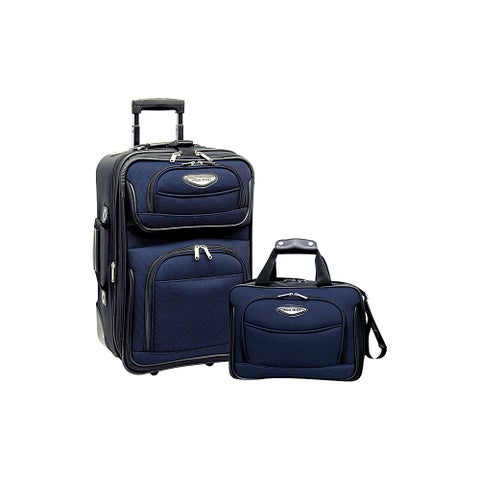 Travel Select Amsterdam Two Piece Carry-On Luggage Set -Navy