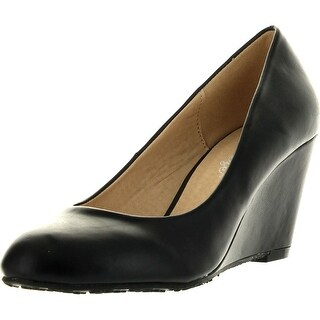 Reneeze Daisy-05 Womens Wedge Pumps - Black
