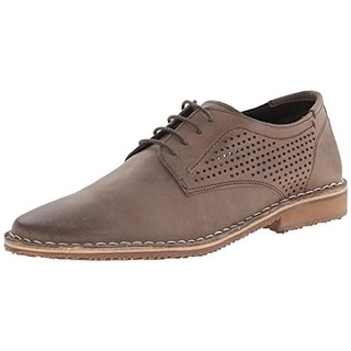 Kenneth Cole Reaction Mens Off Topic Perforated Leather Oxfords - 10 medium (d)