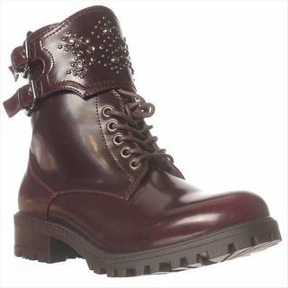 Mia Perry Embellished Combat Boots - Cordonvan