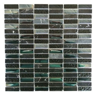 """Miseno MT-EARTH5/8RECT Earth - 5/8"""" X 2"""" - Glass Visual - Wall Tile (Sold by Sheet)"""