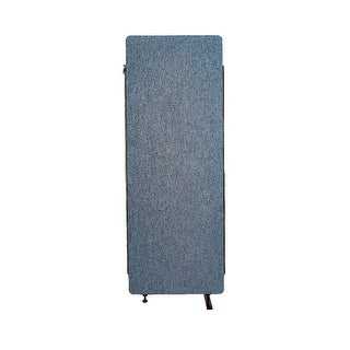 Offex Reclaim Acoustic Fabric Room Divider Expansion Panel In Pacific Blue