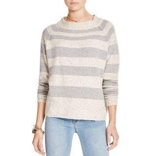 Free People Womens Crop Sweater Wool Blend Striped