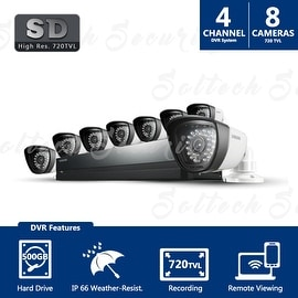SDS-P4082 - Samsung 8ch 960H Security Camera System