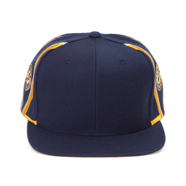 0e9ecae04775c4 Shop Mitchell & Ness Indiana Pacers Blank Front Short Hook Snapback ...