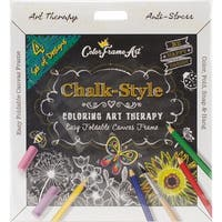 Adult Coloring Foldable Canvas Frame Assortment 4/Pkg-Black Be Happy
