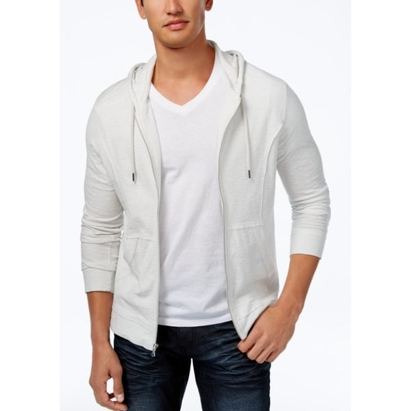 e3bbf687882 Shop INC International Concepts Men s Full Zip Hoodie White Size Small - S  - Free Shipping On Orders Over  45 - Overstock - 24303132