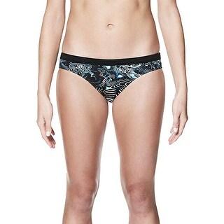 Nike NESS8123 Women's Geo Aftershock Sport Bikini Bottom, Black - X-Small … - xs