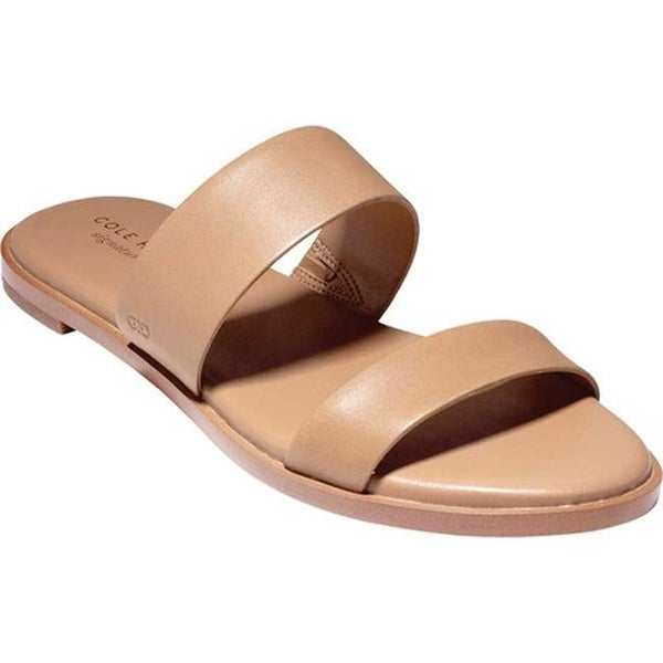 5c5065762823 Shop Cole Haan Women s Findra II Slide Sandal Pecan Leather - Ships ...
