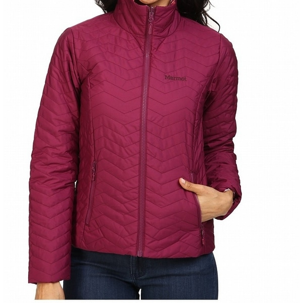 Marmot NEW Pink Women's Size XL Zip Front Mock Neck Quilted Jacket ... : marmot quilted jacket - Adamdwight.com