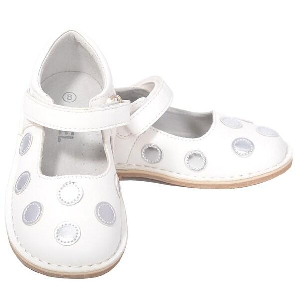 8647ef55285 Shop L Amour White Silver Dot Mary Jane Dress Shoe Little Girl 11-12 ...