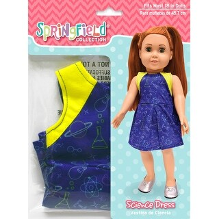 Springfield Collection Science Dress-Yellow & Blue