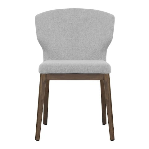 Cabo Mid-century Modern Fabric 21 inch Wingback Chair with Solid Wood