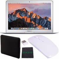 "Apple 13.3"" MacBook Air 256GB SSD #MQD42LL/A + Padded Case For Macbook + Fibercloth + Optical Wireless Mouse Bundle"