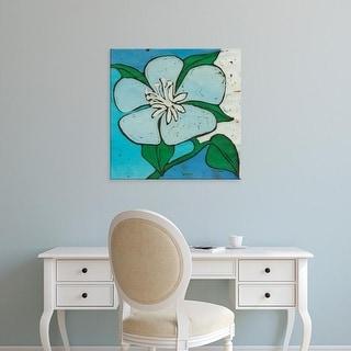 Easy Art Prints Andrea Davis's 'Turquoise Batik Botanical VI' Premium Canvas Art