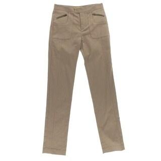 Catherine Malandrino Womens Twill Pattern Skinny Pants - 2