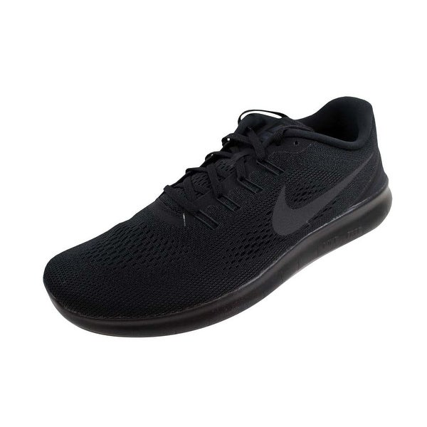 14257fb521ae8 Shop Nike Men s Free RN Black Black-Anthracite831508-002 - Free ...