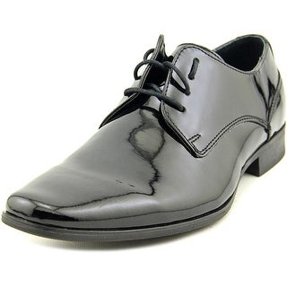 Calvin Klein Brodie Men Plain Toe Patent Leather Black Oxford