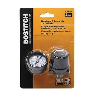 "Bostitch BTFP72326 Air Regulator & Gauge Kit, 1/4"" NPT"