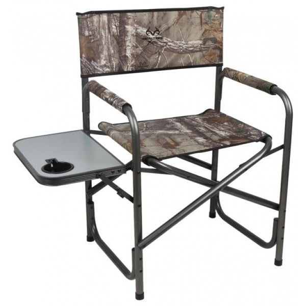 Realtree Prwf Dch002 Rt Portable Camping Director Chair With Side Table Camo