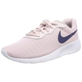 Nike 818384-600: Girl's Tanjun Barely Rose/Navy/White Sneaker (4 M Us Big Kid)