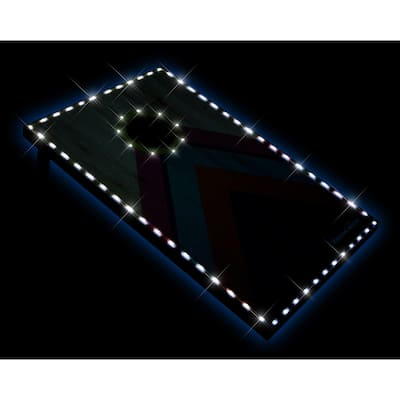 YardCandy Deluxe LED Illuminated Cornhole Set of two cornhole boards