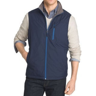 IZOD NEW Navy Blue Men's Size 2XL Reversible Full-Zip Vest Jacket