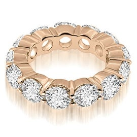5.25 cttw. 14K Rose Gold Round Cut Diamond Eternity Ring
