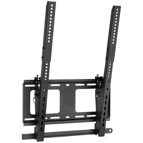 Mount-It! Vertical Portrait TV Wall Mount, Vertical-Orientation Menu Wall Board MountTilting, Anti-Theft and Lockable