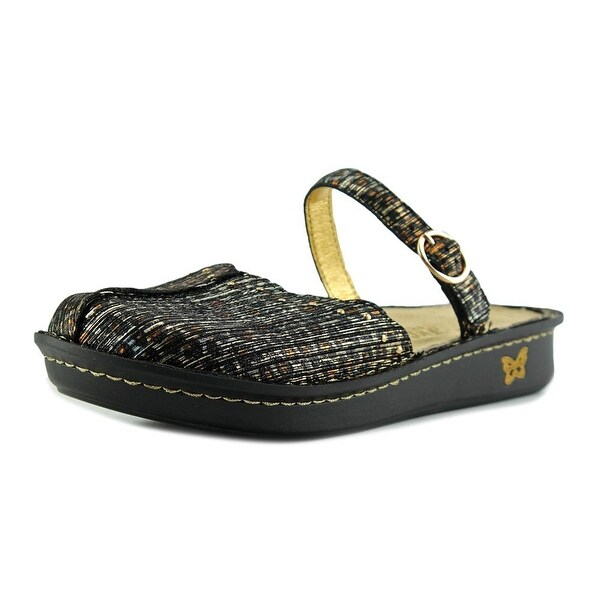Alegria Tuscany Women W Round Toe Leather Bronze Clogs