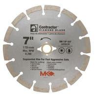 "MK Diamond 167015 Mk-99 Arbor Segmented Rim Diamond Blade, 7"" x .070"" x 5/8"""