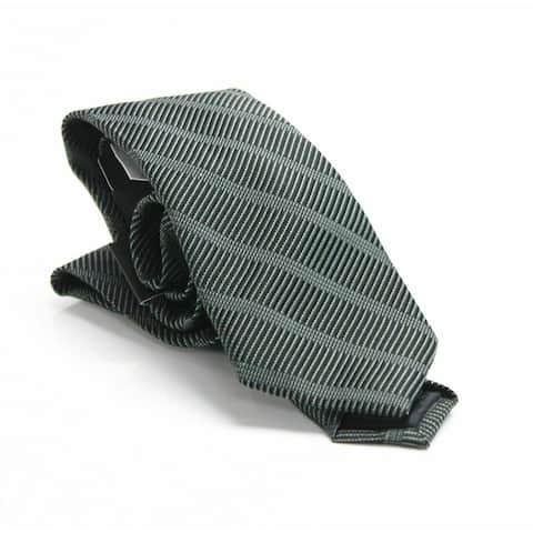 Dkny Men's Sky Line Silk Slim Tie Black Size Regular