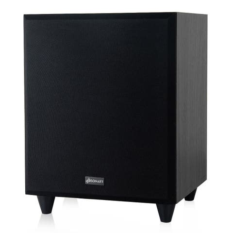 Sonart 8'' 300W Powered Active Subwoofer Front-Firing Woofer Surround Sound Home Theater