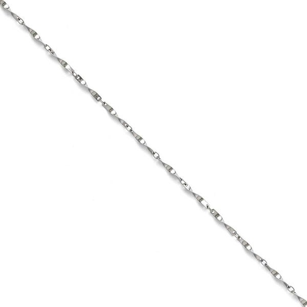 Chisel Stainless Steel Polished Fancy Link Spiral Chain - 16 in
