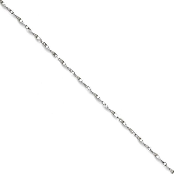 Chisel Stainless Steel Polished Fancy Link Spiral Chain - 24 in