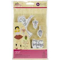 Julie Nutting Mixed Media Cling Rubber Stamps-Joy
